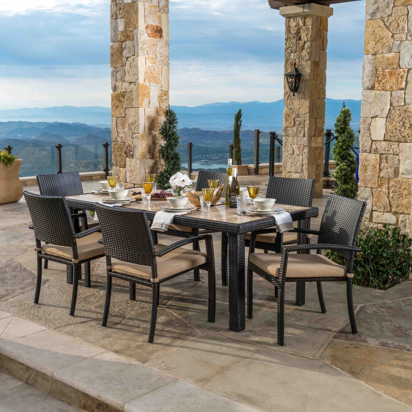 Portofino™ Comfort 18pc Estate Dining Set - Heather Beige