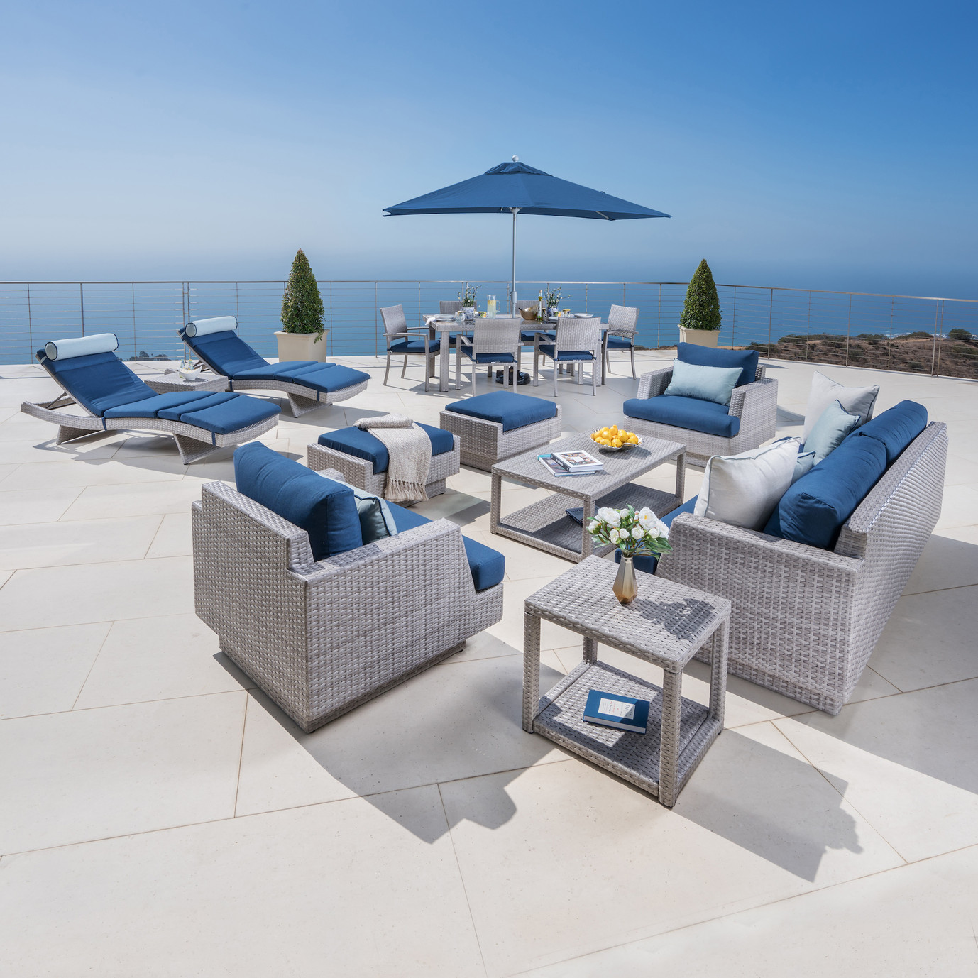 Portofino™ Comfort 18pc Estate Dining Set - Laguna Blue