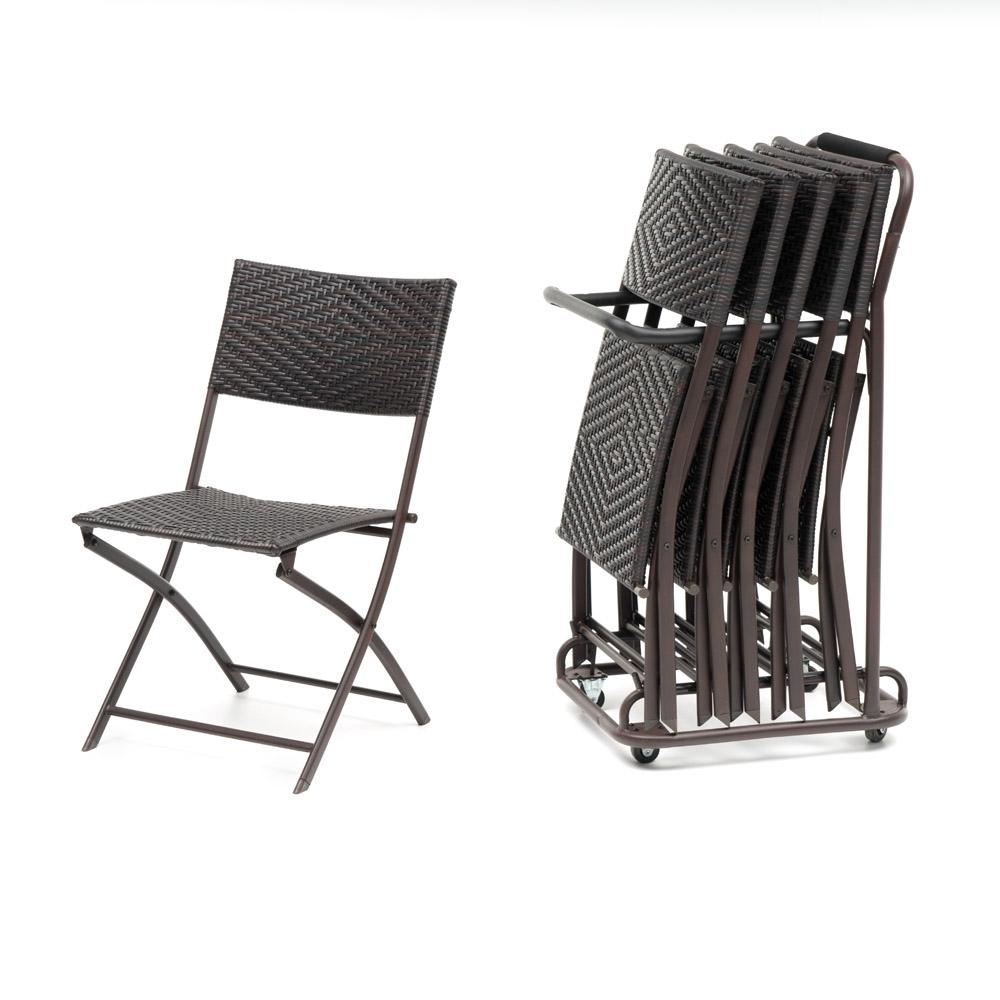 ... Perfect Woven Folding Chair Set 6pk With Cart And Cover ...