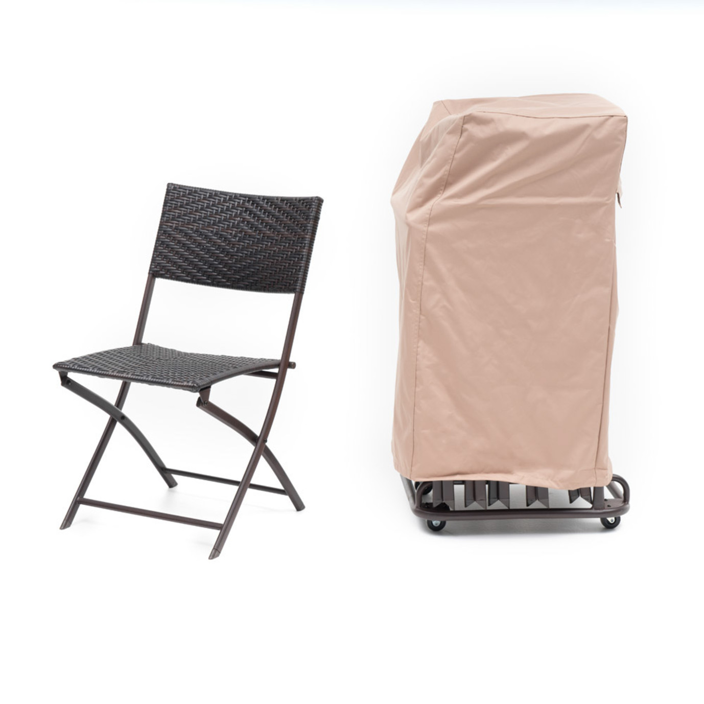 Perfect Folding Chair Set 6pk with Cart and Cover
