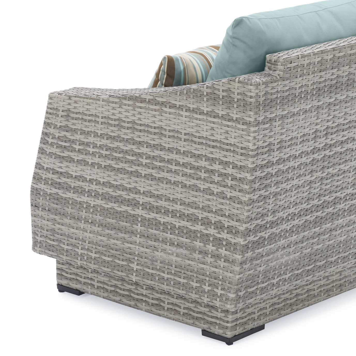 Cannes™ Loveseat and Ottoman - Bliss Blue