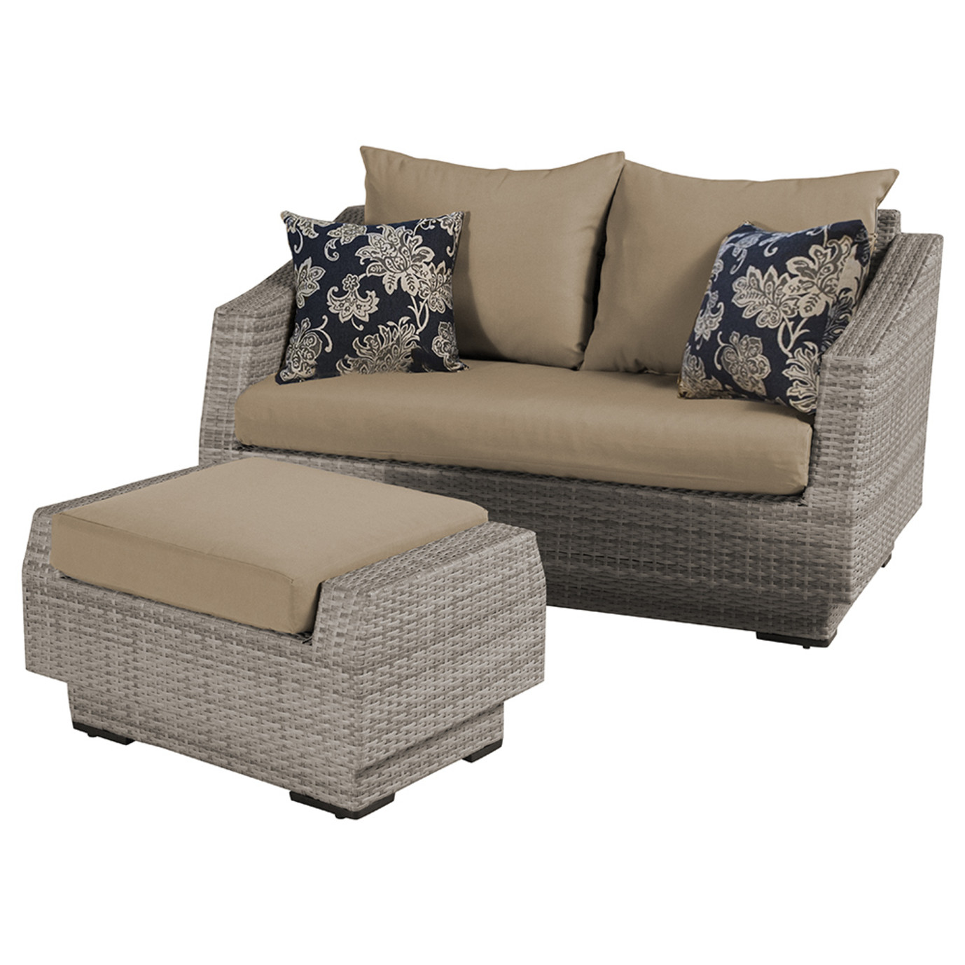 Cannes loveseat and ottoman delano beige rst brands for Delano promo code