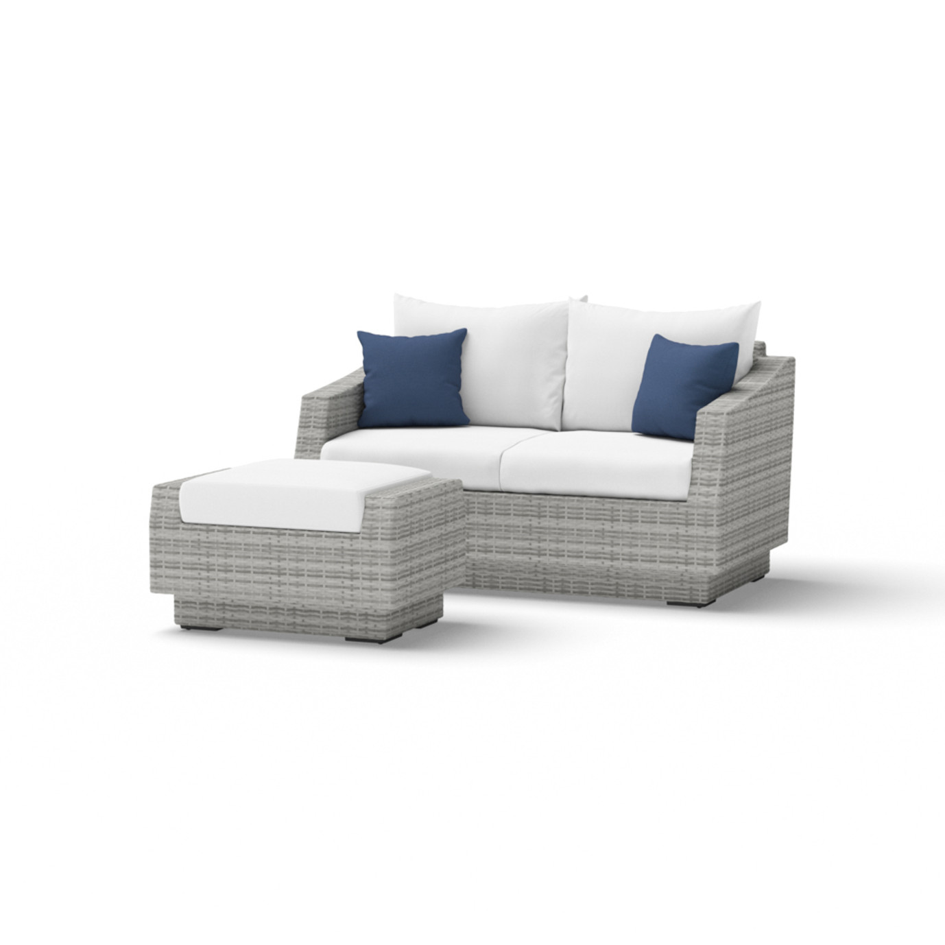 Cannes™ Loveseat and Ottoman