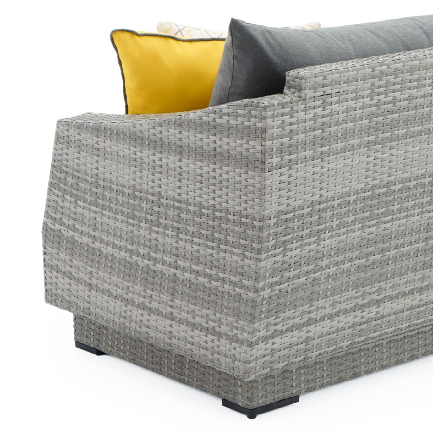 Cannes™ Loveseat & Ottoman - Sunflower Yellow