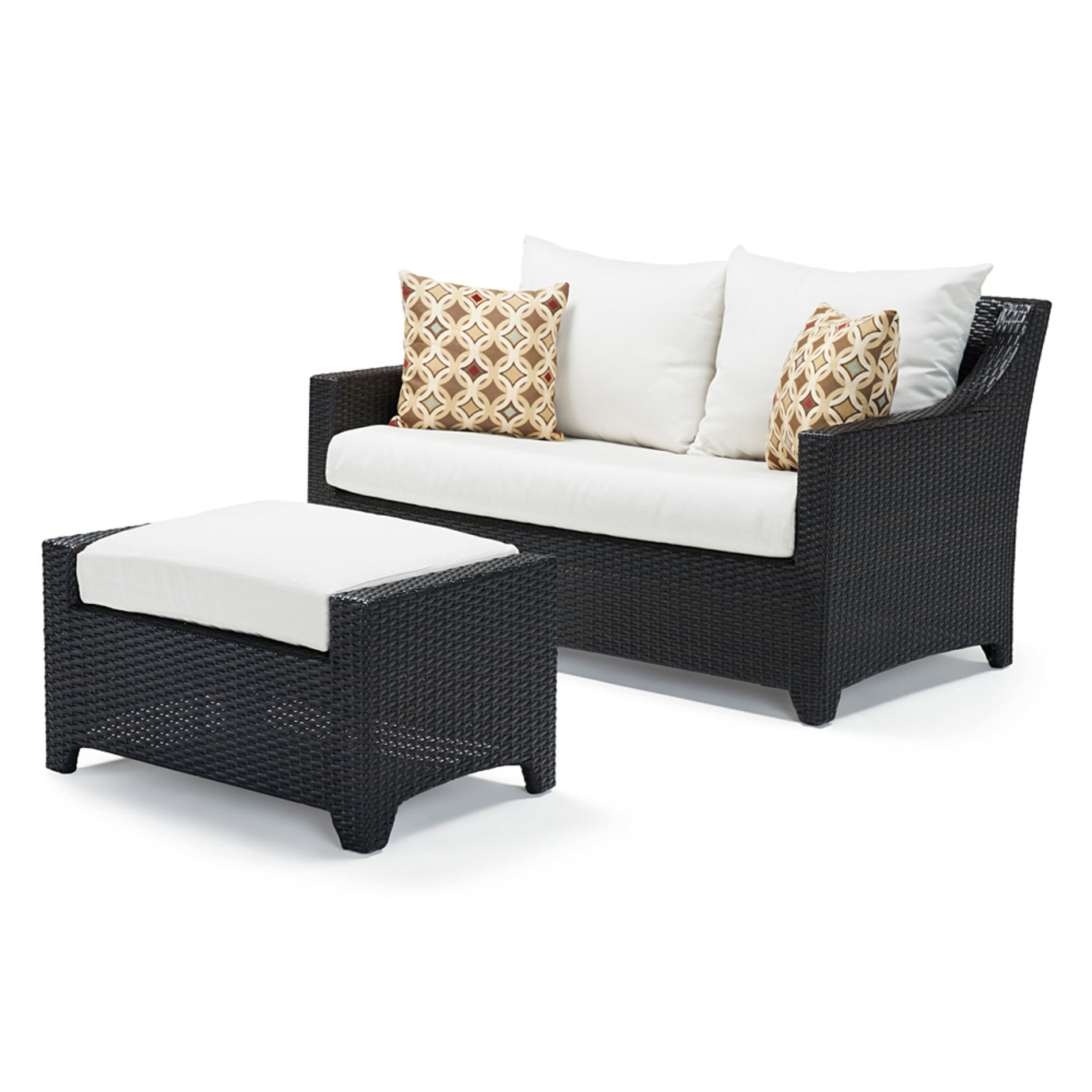 Deco™ Loveseat and Ottoman - Moroccan Cream