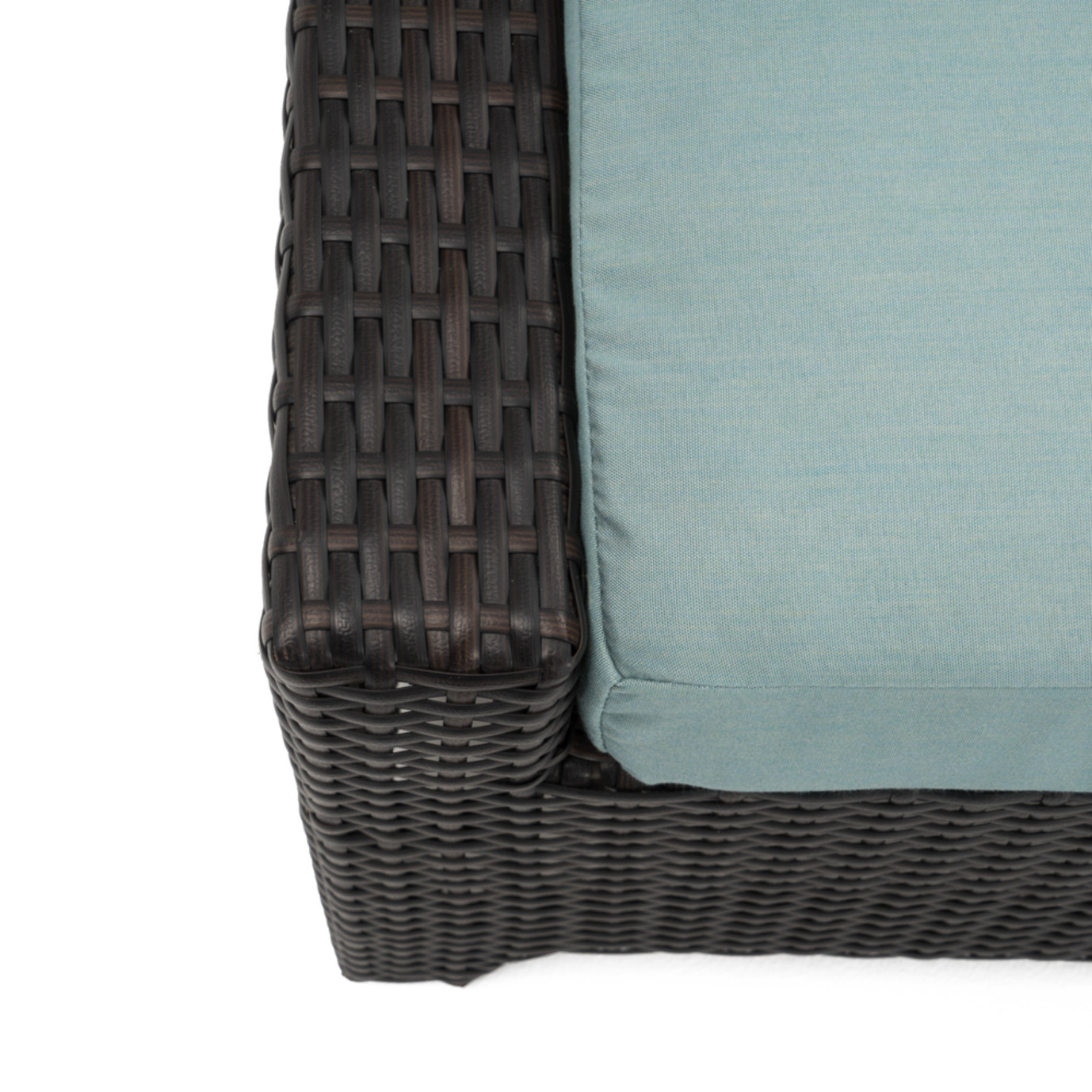 Deco™ Loveseat & Ottoman - Spa Blue