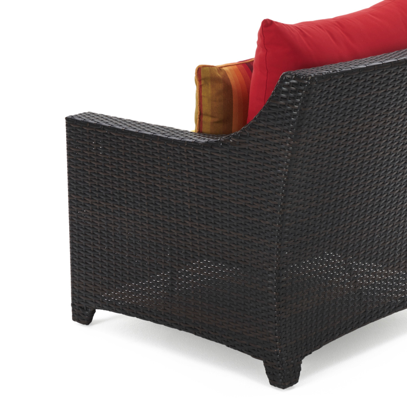 Deco™ Loveseat & Ottoman - Sunset Red