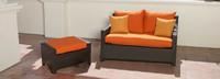 Deco™ Loveseat and Ottoman - Tikka Orange