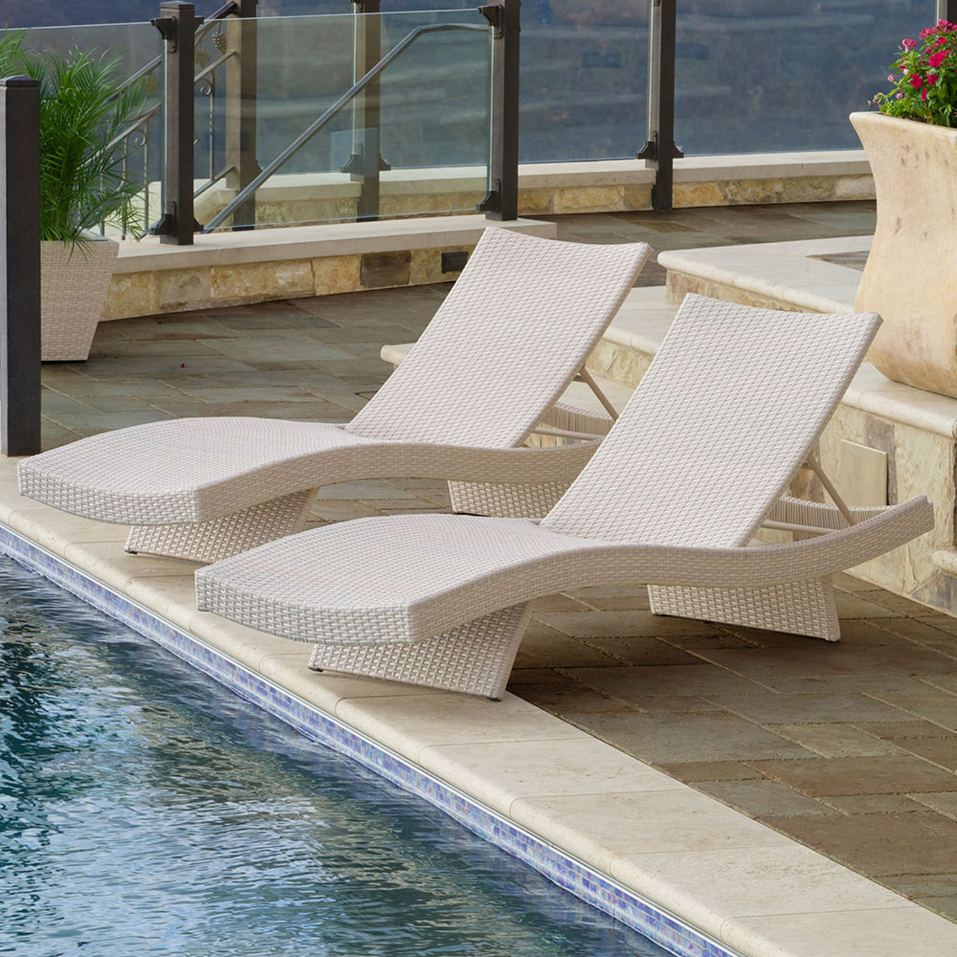 Portofino™ Comfort 2pk Chaise Lounge Chairs - Chalk
