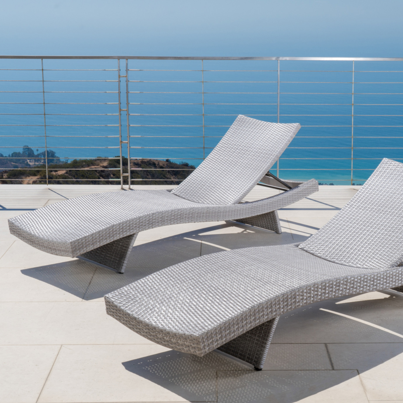 Portofino™ Comfort 2pk Chaise Lounge Chairs - Grey