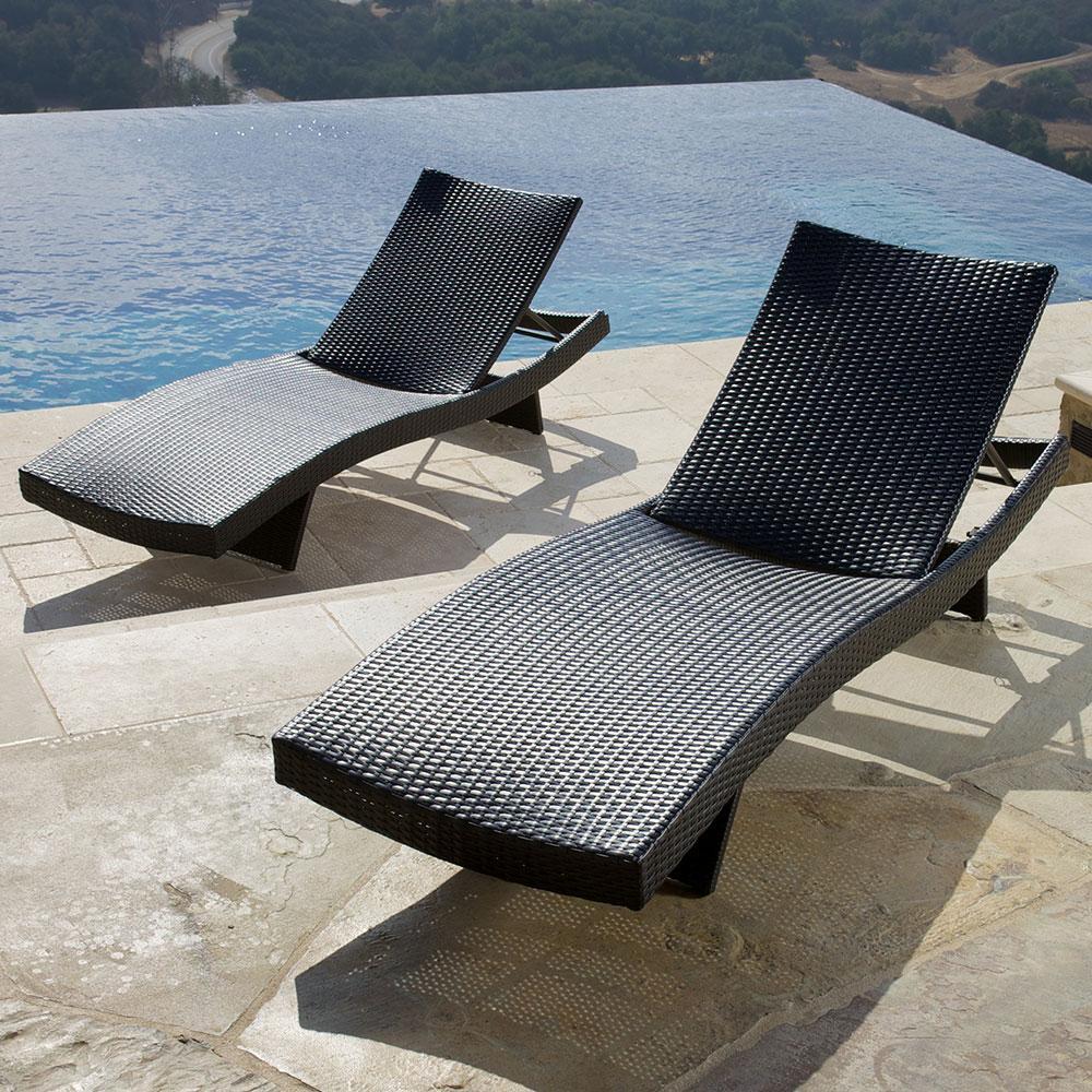 ... Portofino™ Comfort 2pk Chaise Lounge Chairs   Espresso ...