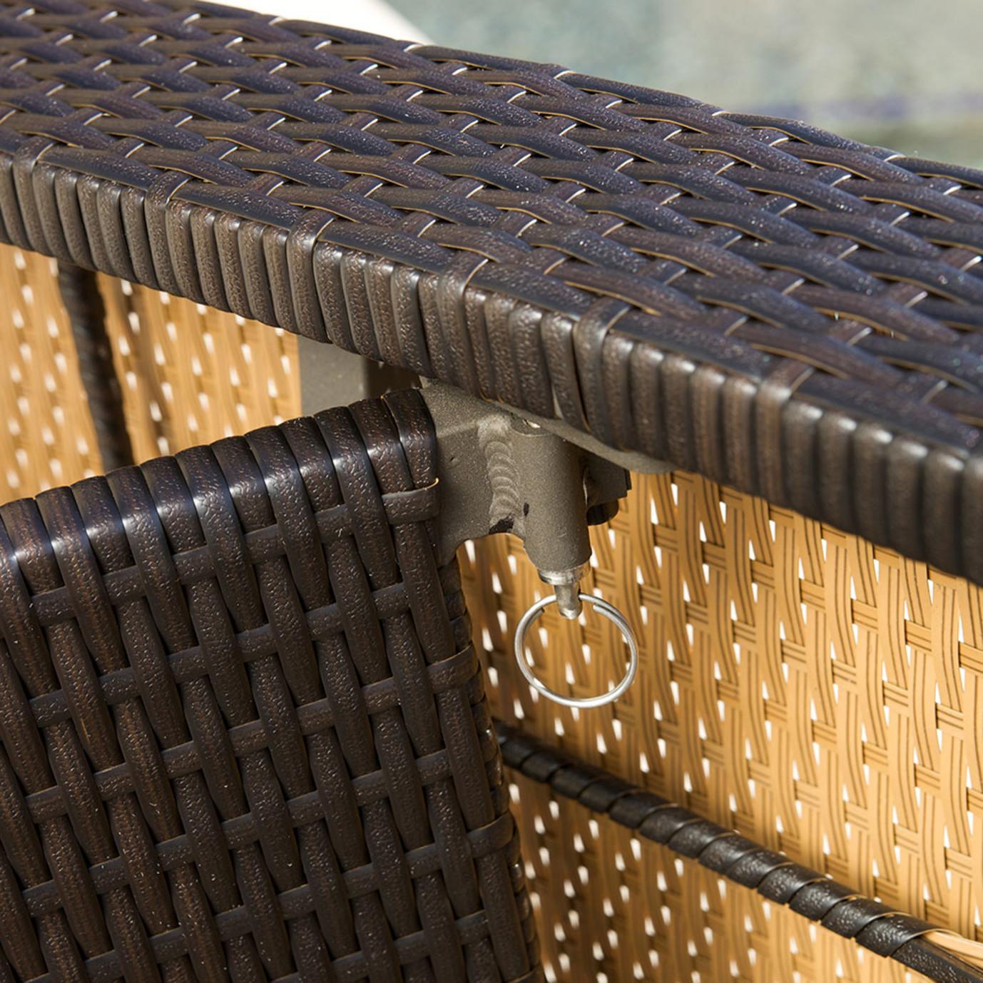 Portofino™ Comfort 2pk Chaise Lounge Chairs - Espresso