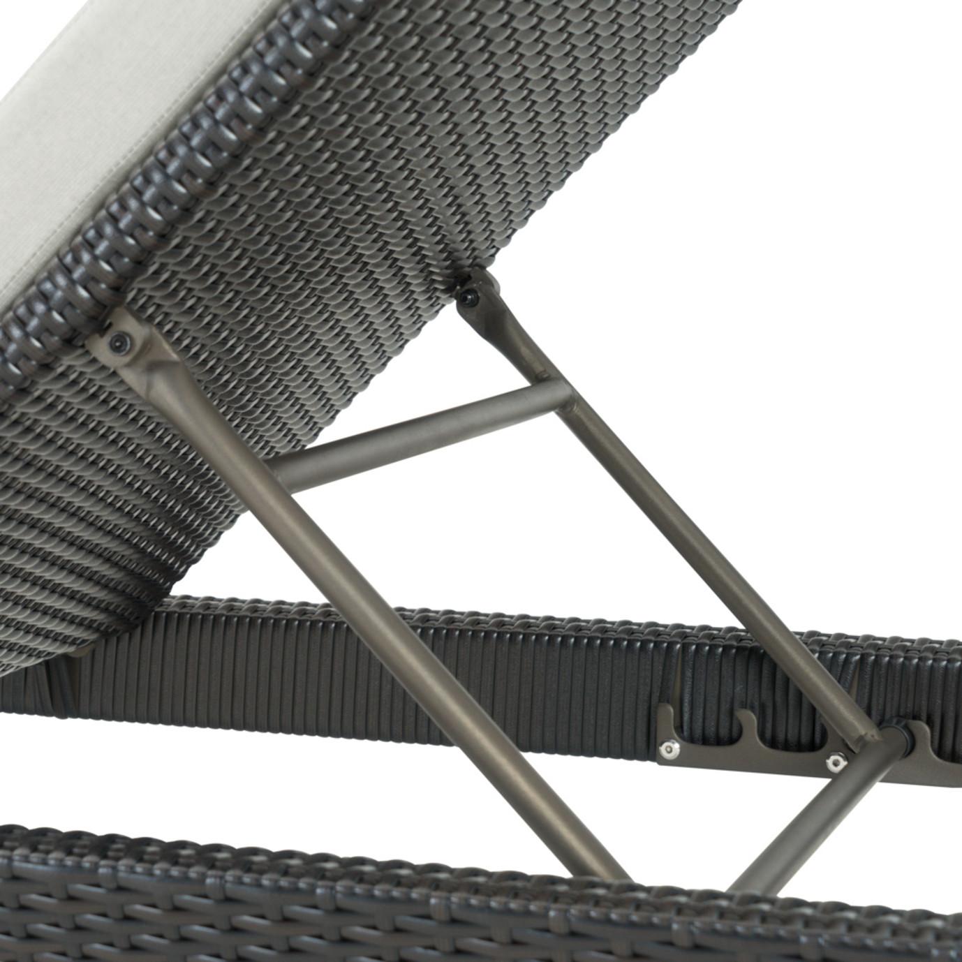 Portofino® Casual 2 Piece Lounger and Mattress - Dove Gray