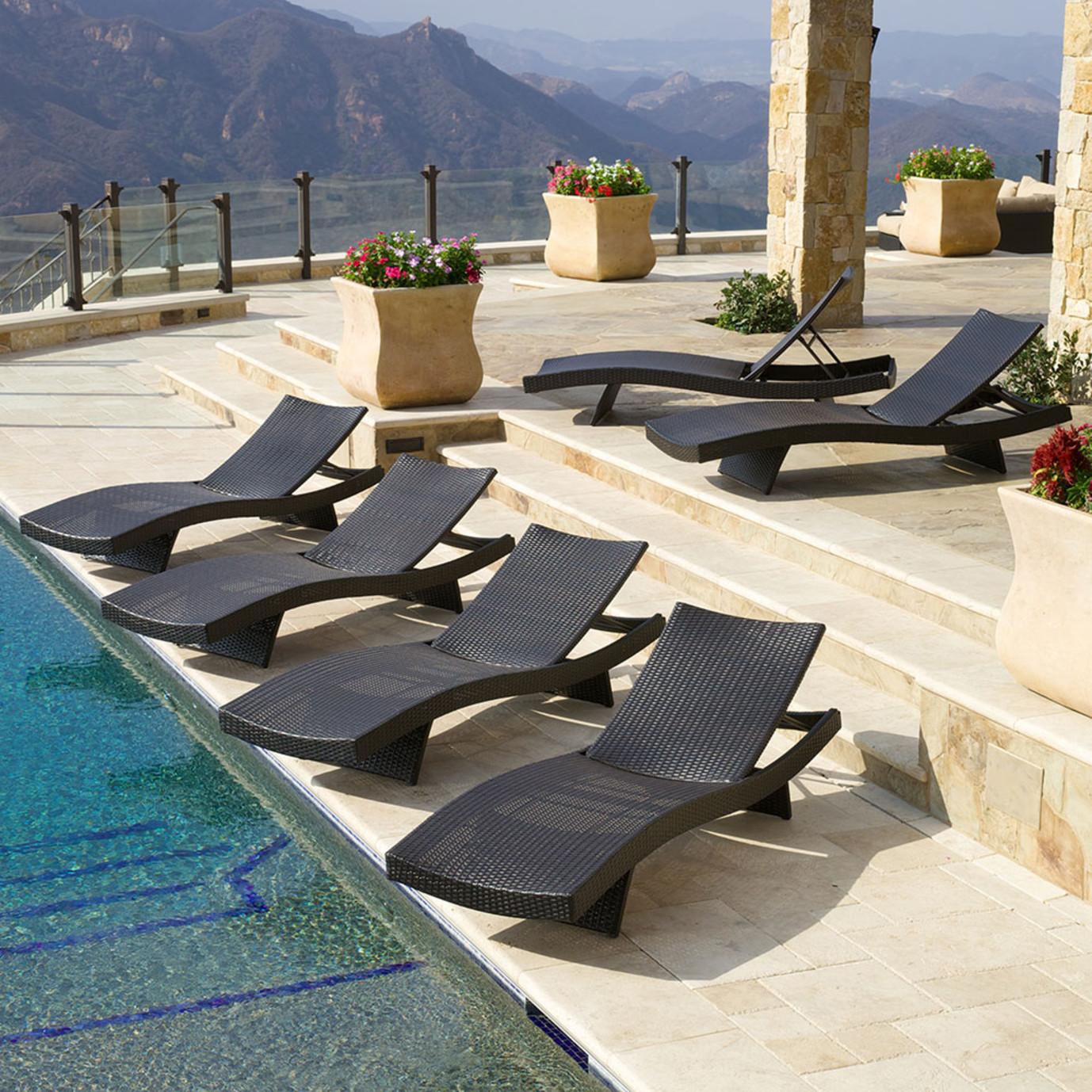 Portofino™ Comfort 6pk Chaise Lounges - Espresso