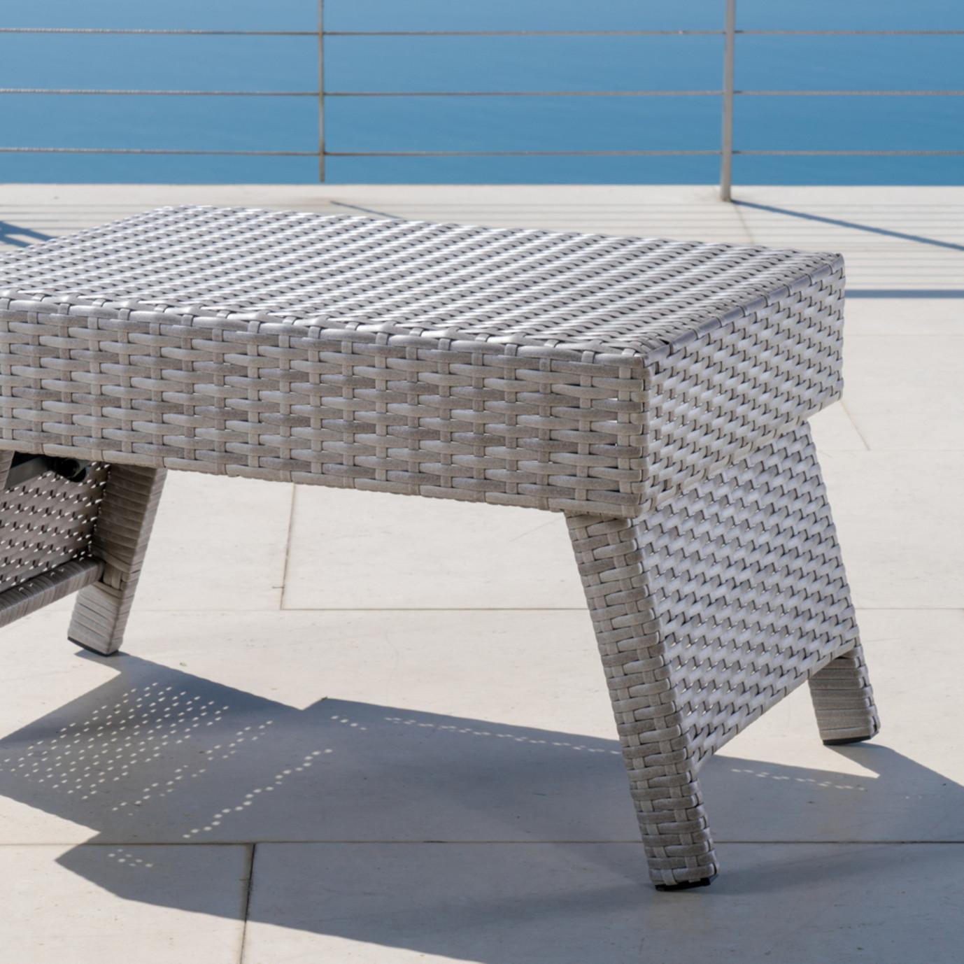 Portofino™ Comfort Woven Folding Side Table - Grey