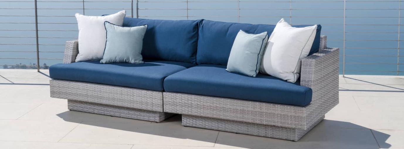Portofino® Comfort 96in Sofa - Laguna Blue