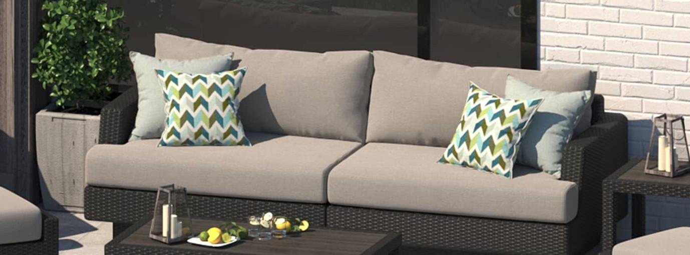 Portofino® Comfort 96in Sofa - Taupe Mist