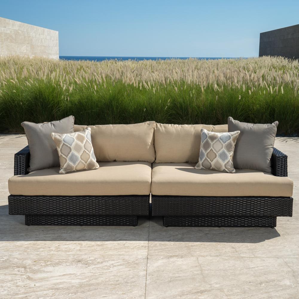 Portofino Comfort 96in Sofa - Heather Beige - Outdoor Furniture by RST Brands