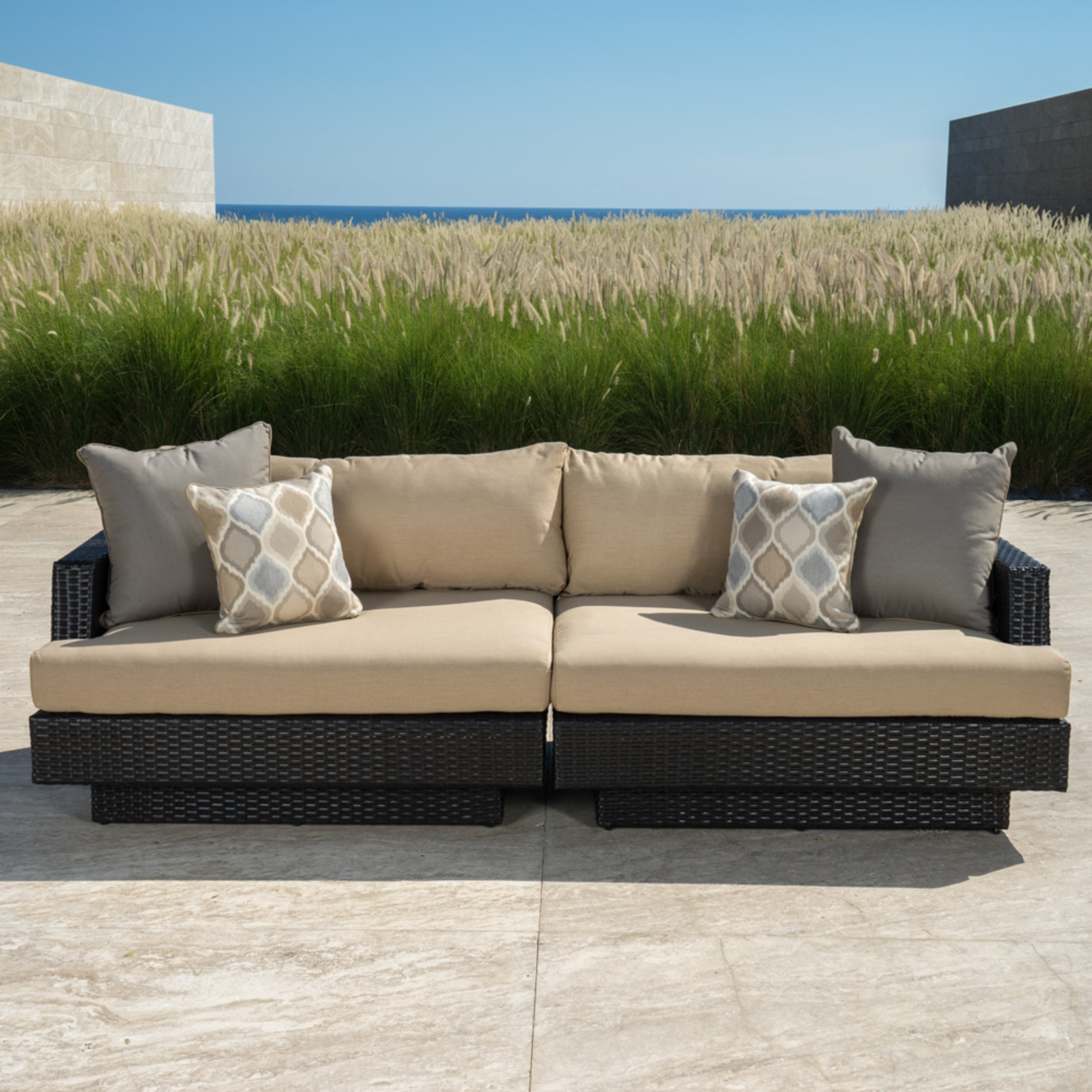 Portofino™ Comfort 96in Sofa - Heather Beige