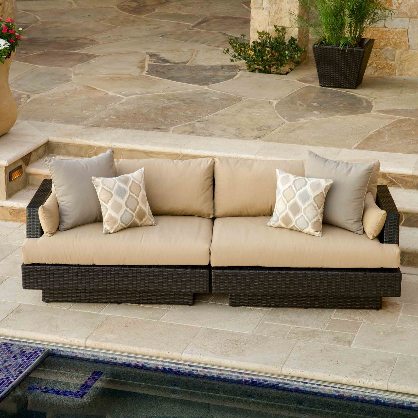 Portofino™ Comfort 7pc Modular Sectional - Heather Beige