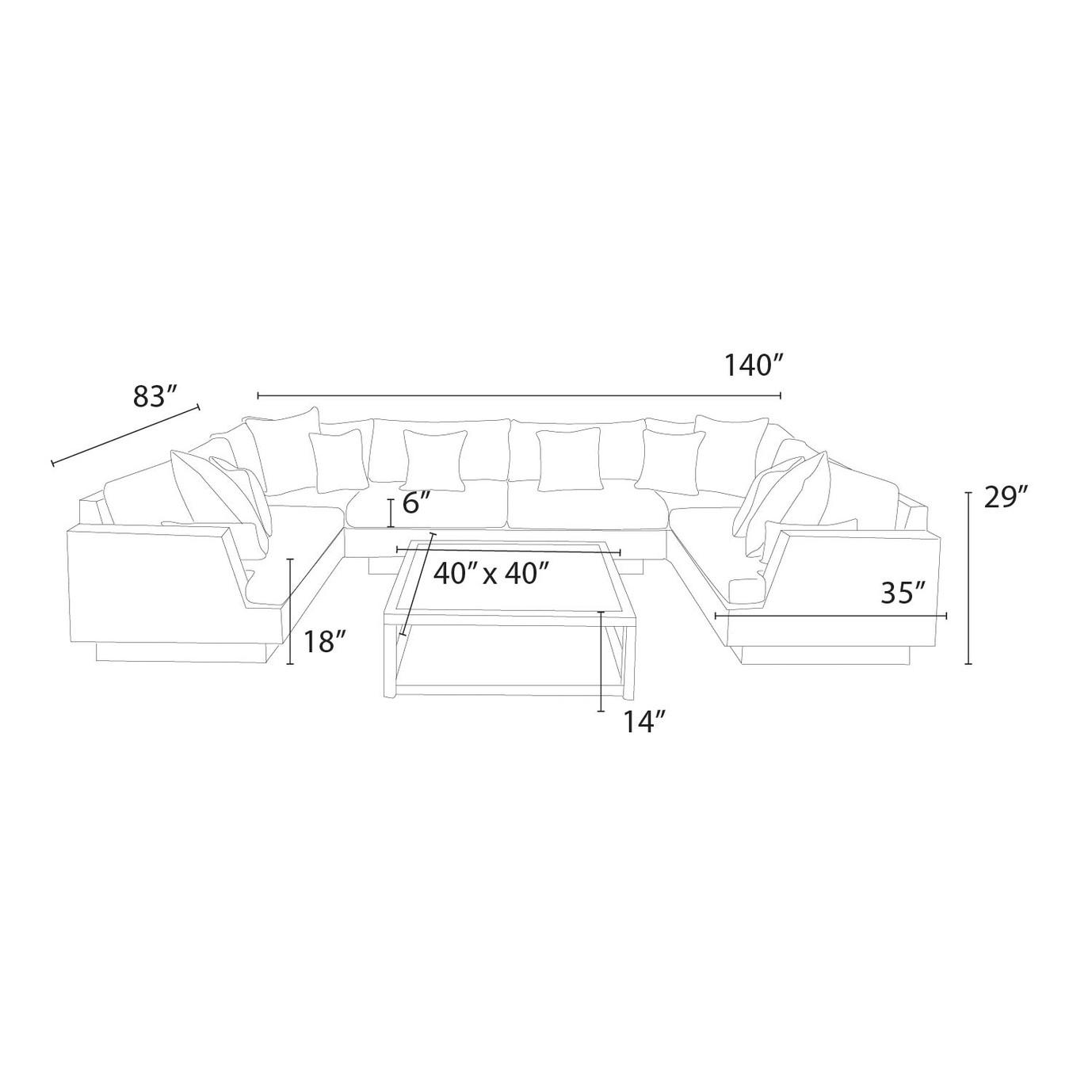 Portofino™ Comfort 7pc Modular Sectional - Heather Beige