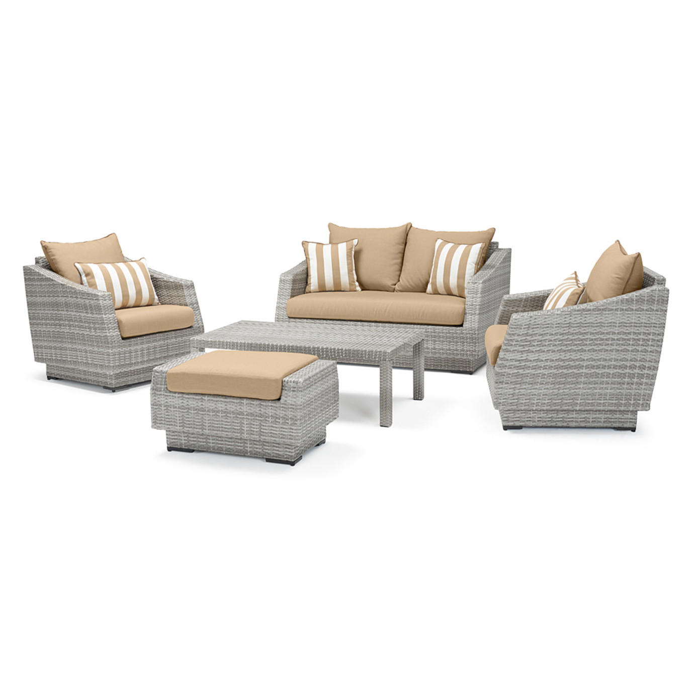 Cannes™ 5 Piece Love & Club Seating Set - Maxim Beige