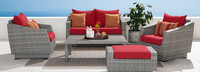 Cannes™ 5 Piece Love & Club Seating Set - Spa Blue