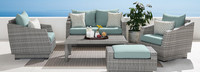 Cannes™ 5 Piece Love & Club Seating Set - Sunset Red