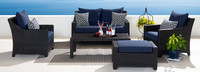 Deco™ 5 Piece Love & Club Seating Set - Spa Blue