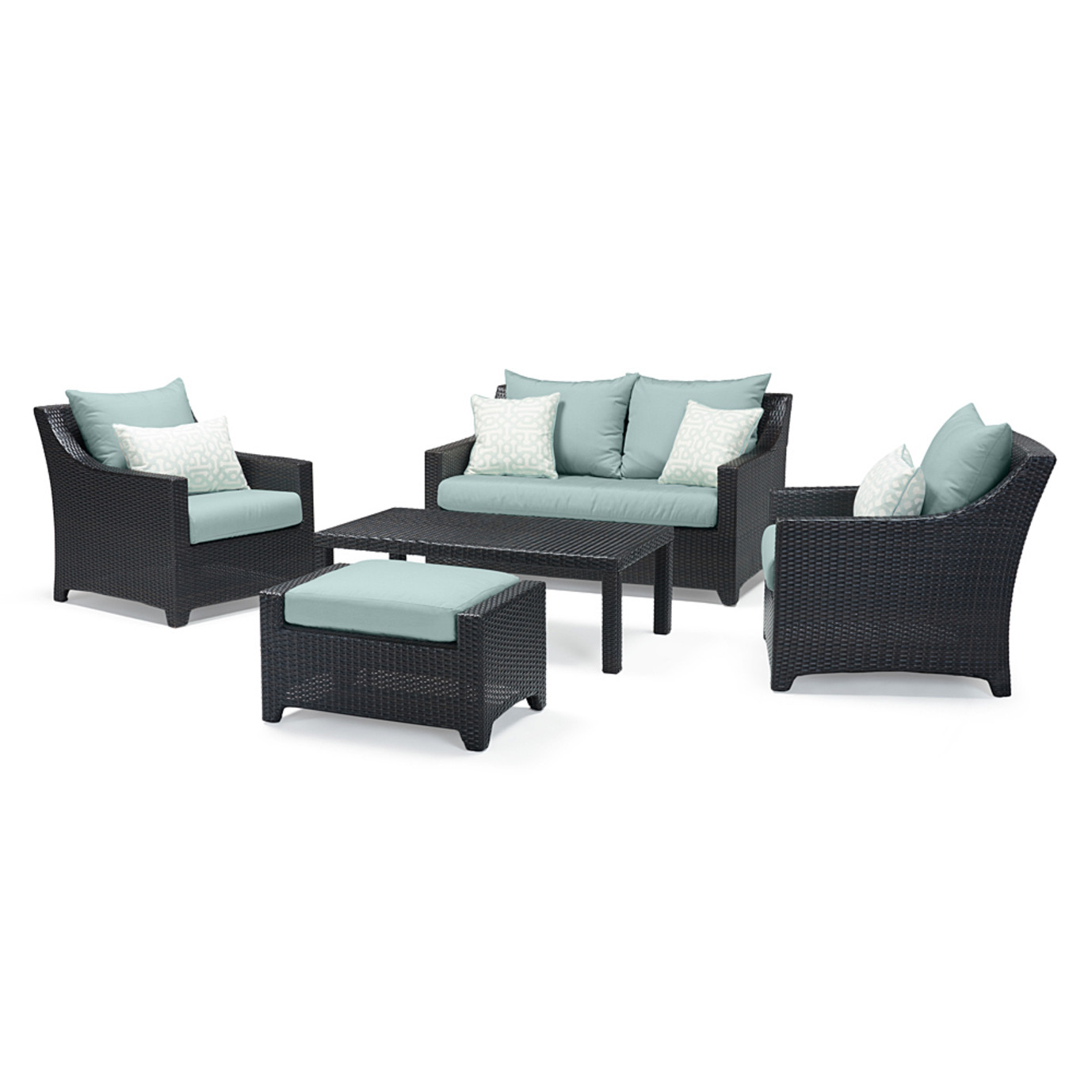 Deco™ 5pc Love & Club Seating Set - Spa Blue