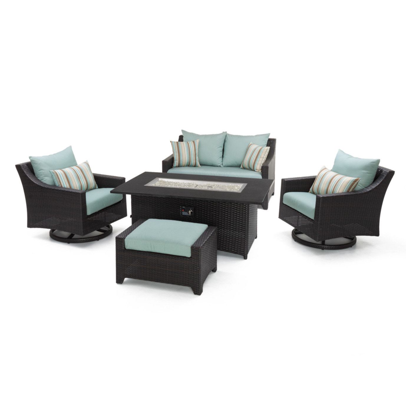 Deco™ 5pc Love and Motion Club Fire Set - Bliss Blue