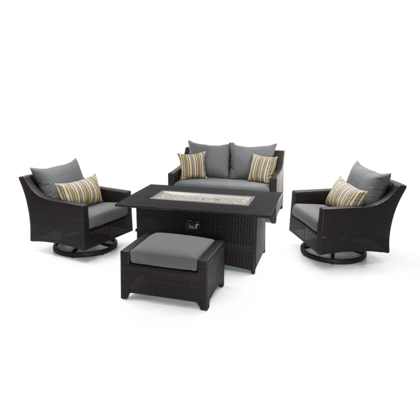 Deco™ 5 Piece Love & Motion Club Fire Set - Charcoal Gray