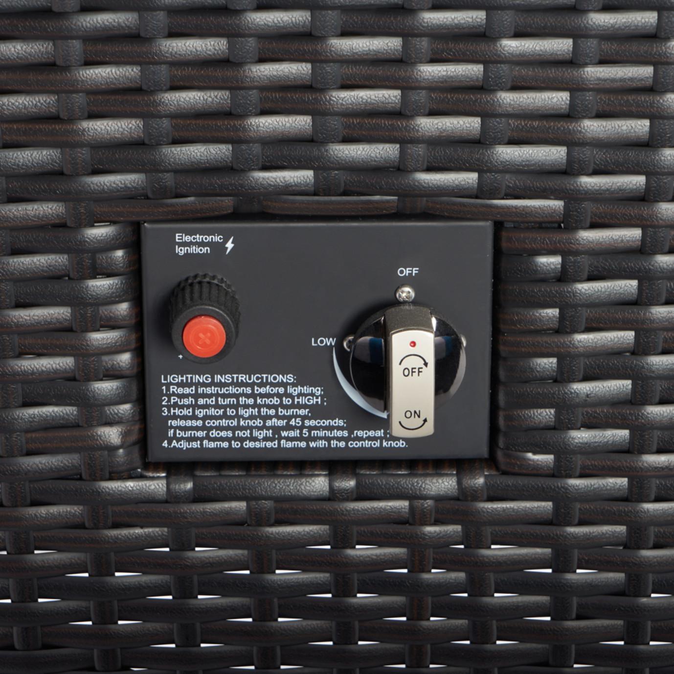 Deco™ 5pc Love & Motion Club Fire Set - Charcoal Gray