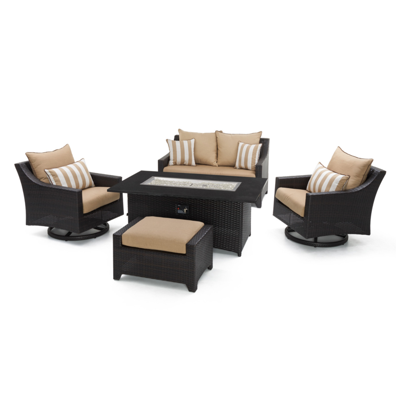 Deco™ 5pc Love & Motion Club Fire Set - Maxim Beige