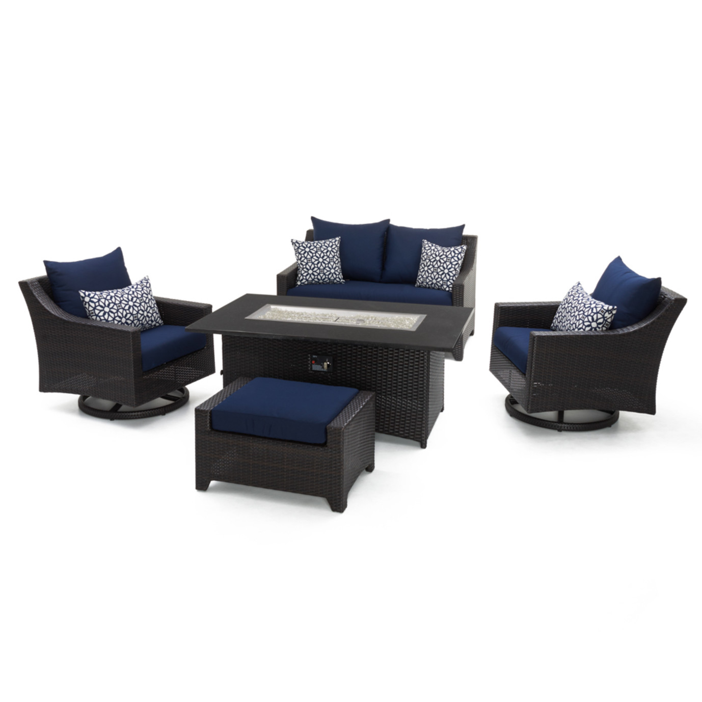Deco™ 5 Piece Love & Motion Club Fire Set - Navy Blue