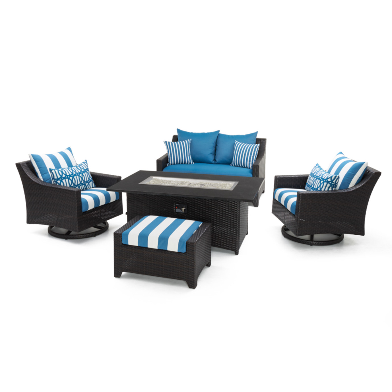Deco™ 5pc Love & Motion Club Fire Set - Regatta Blue