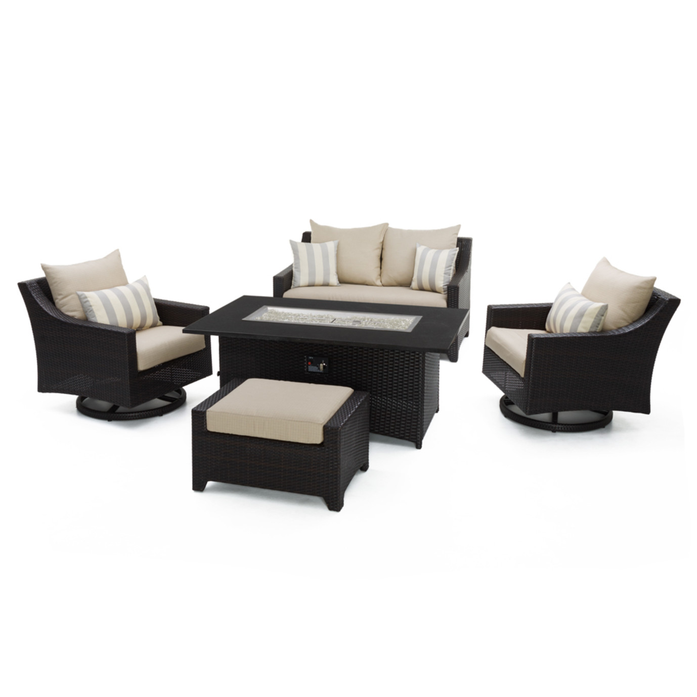 Deco™ 5pc Love and Motion Club Fire Set in Slate Grey