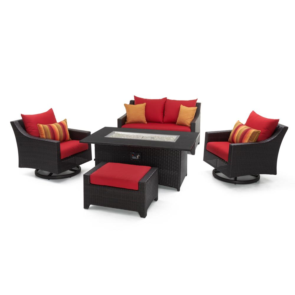 Deco 5pc Love & Motion Club Fire Set - Sunset Red