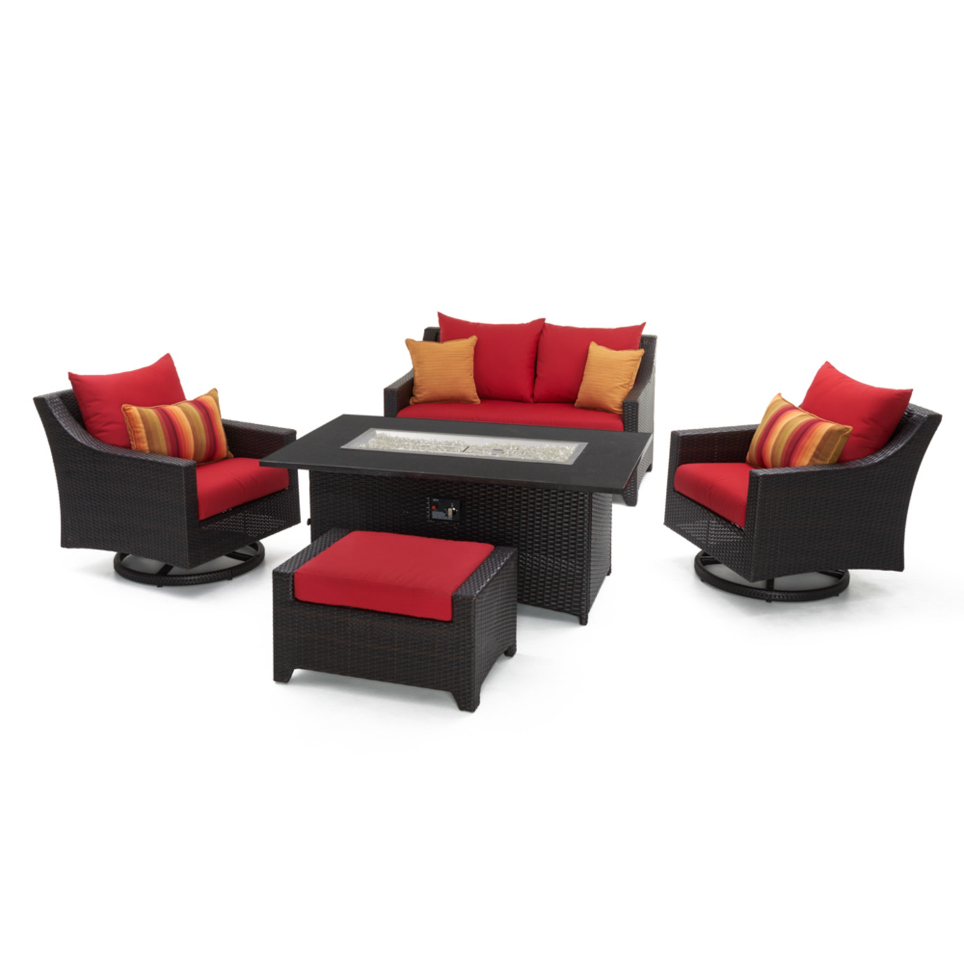 Deco™ 5 Piece Love & Motion Club Fire Set - Sunset Red
