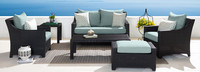 Deco™ 6 Piece Love and Club Seating Set - Bliss Blue