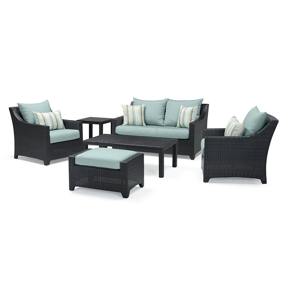 Deco 6pc Love & Club Seating Set - Bliss Blue