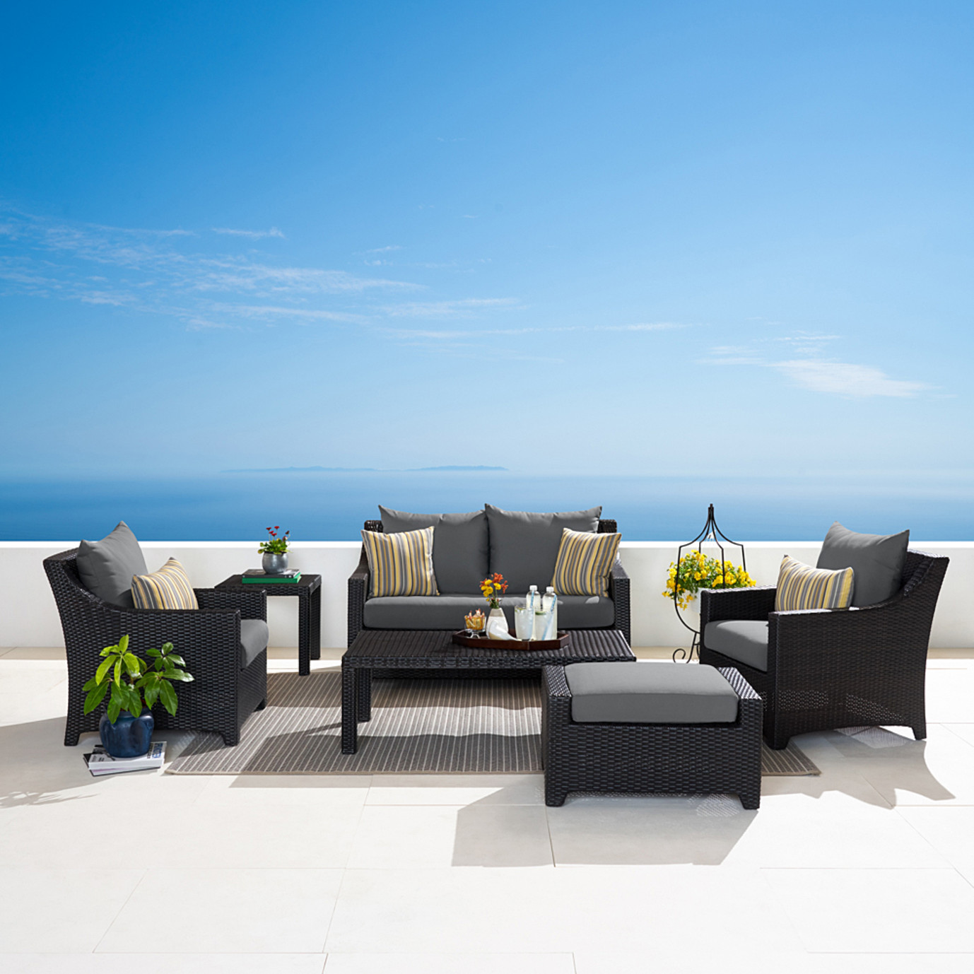 Deco™ 6pc Love and Club Seating Set - Charcoal Gray