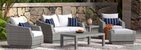 Cannes™ 6 Piece Love & Club Seating Set - Centered Ink