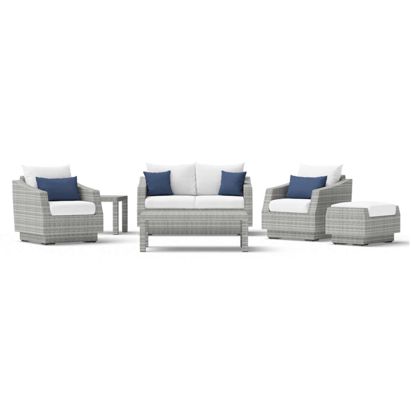 Cannes™ 6 Piece Love and Club Seating Set
