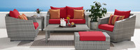 Cannes™ 6 Piece Love and Club Seating Set - Navy Blue