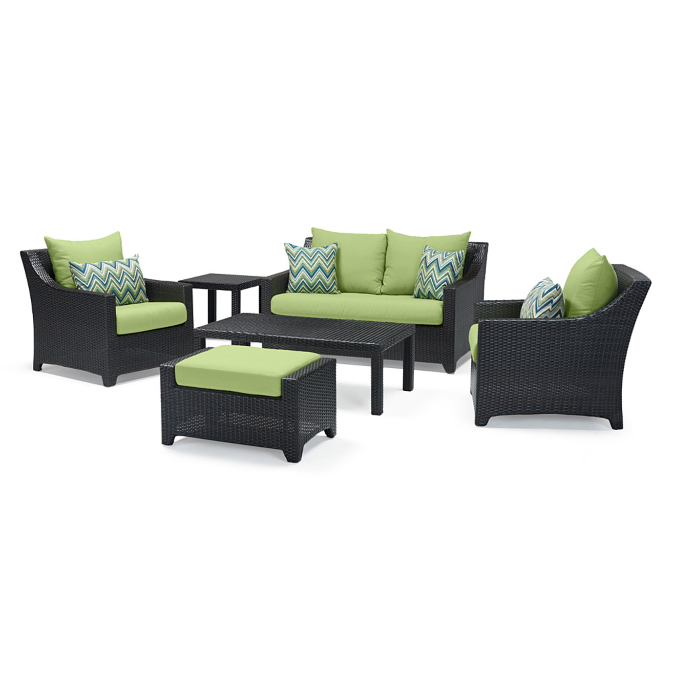 Deco™ 6 Piece Love and Club Seating Set - Ginkgo Green