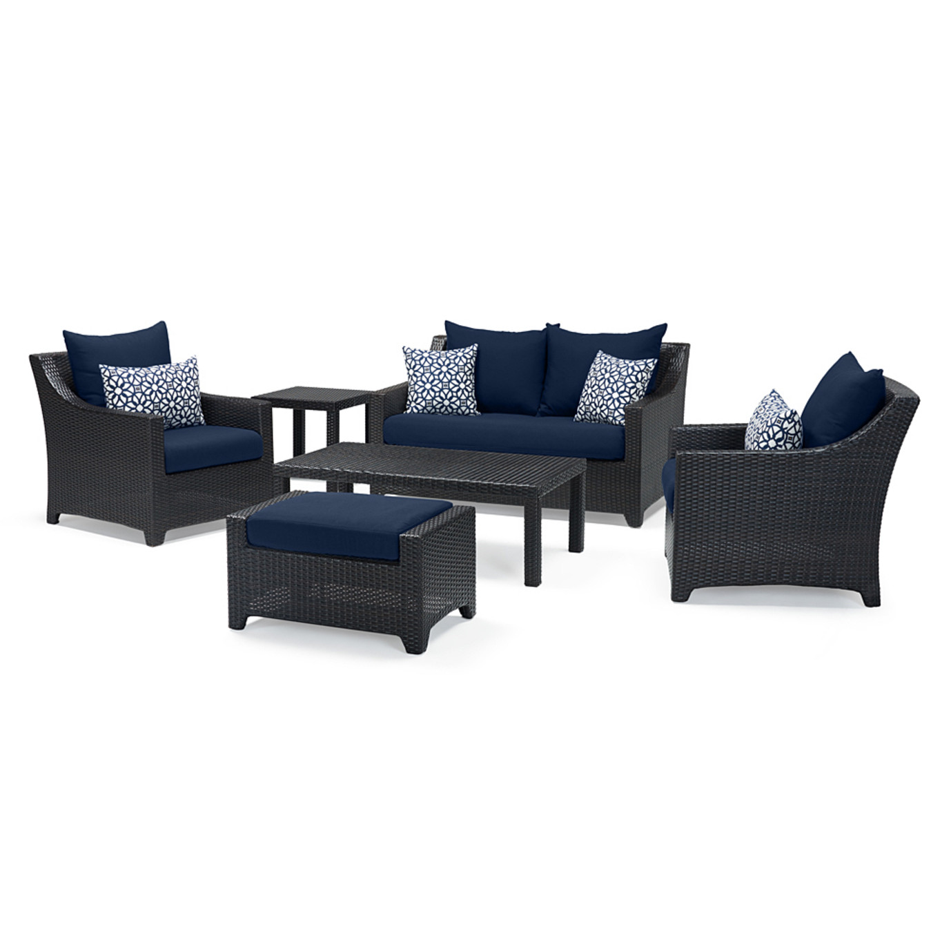 Deco™ 6 Piece Love and Club Seating Set - Navy Blue