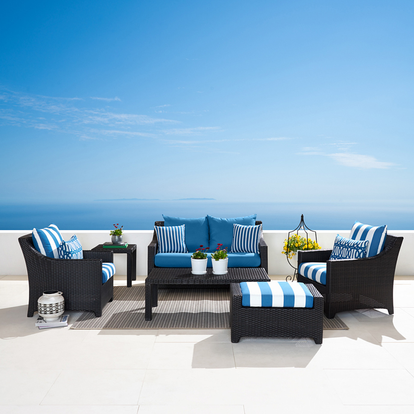 Deco™ 6pc Love and Club Seating Set - Regatta Blue