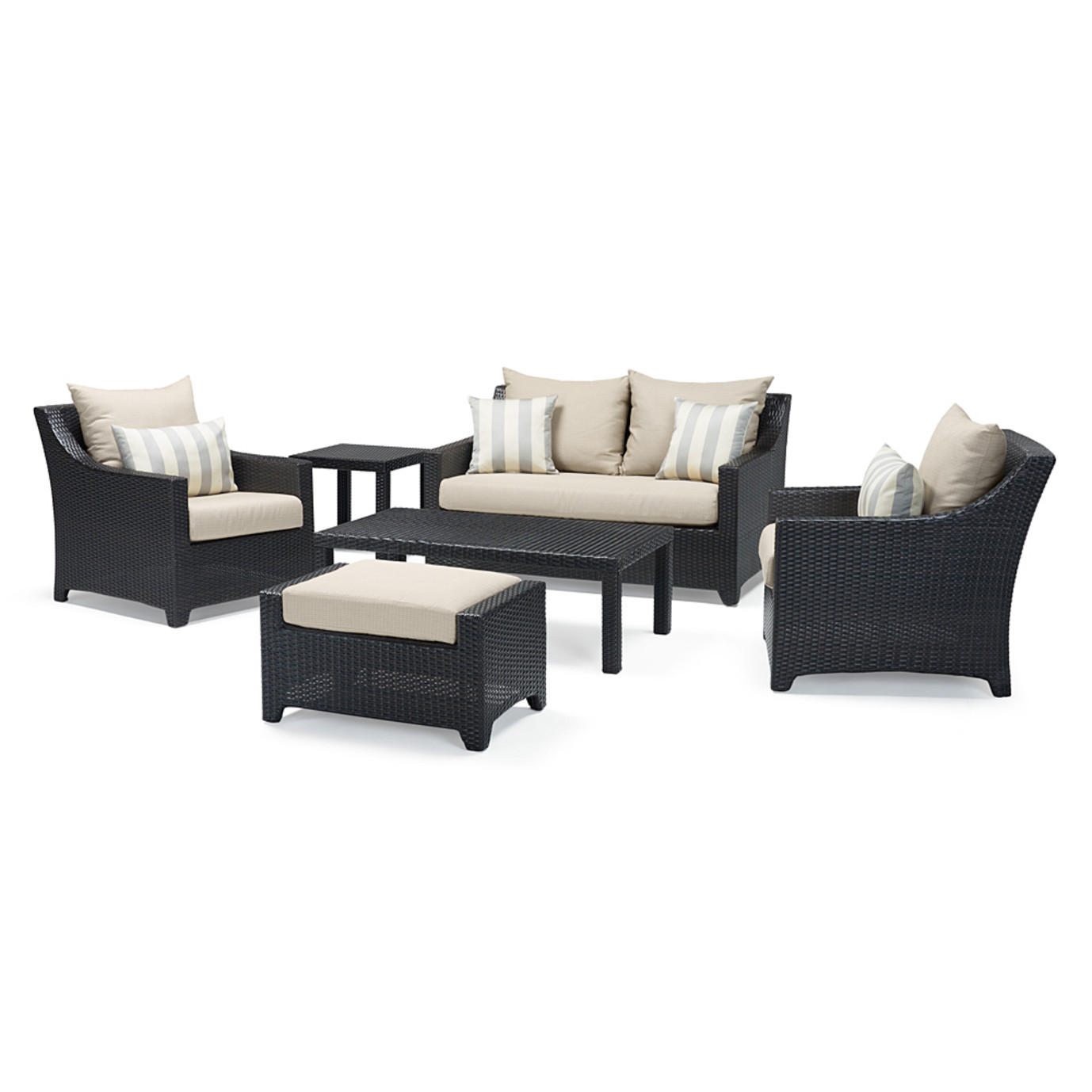 Deco™ 6 Piece Love and Club Seating Set - Slate Gray