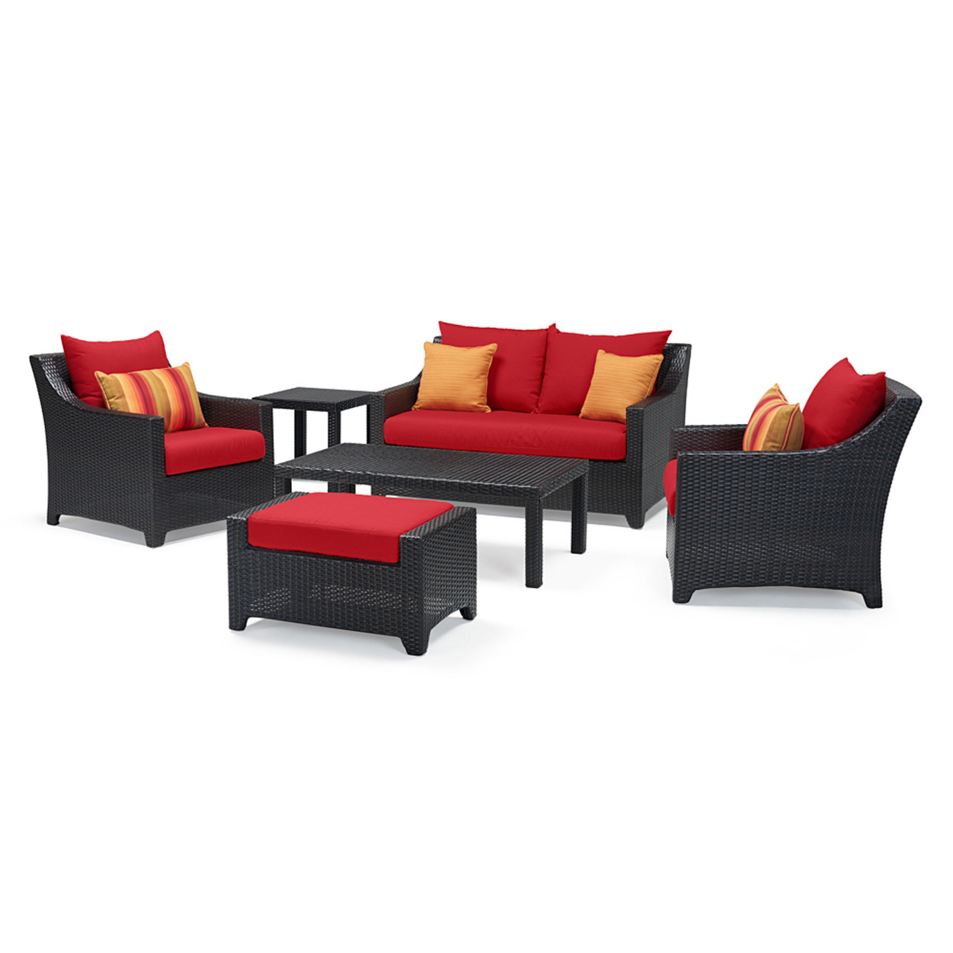 Deco™ 6pc Love & Club Seating Set - Sunset Red